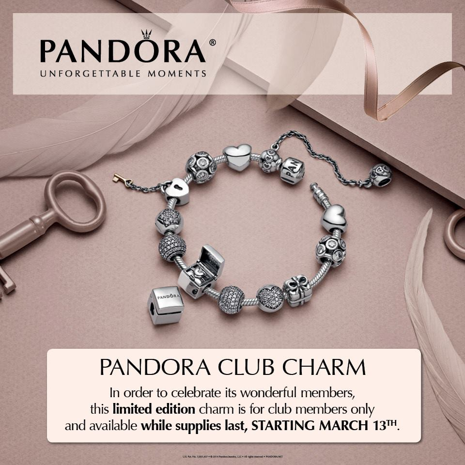 Surprise! Pandora Club Charm Arrives In Some Regions