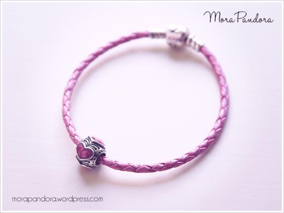 pandora limited edition pink leather bracelet